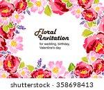 vintage delicate invitation... | Shutterstock .eps vector #358698413