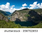 landscape with mountains  fjord ... | Shutterstock . vector #358702853