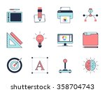 creative design process icons.... | Shutterstock .eps vector #358704743