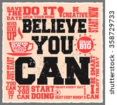believe you can. creative... | Shutterstock .eps vector #358729733