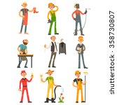 men profession  people with... | Shutterstock .eps vector #358730807