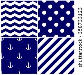 tile sailor pattern set with... | Shutterstock . vector #358733123