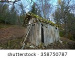 Old Wooden Hut In A Forest...