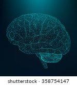 vector illustration human brain.... | Shutterstock .eps vector #358754147
