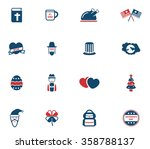 holidays simple symbols for web | Shutterstock .eps vector #358788137