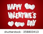 happy valentines day card... | Shutterstock .eps vector #358803413