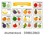 collection of cards with fruits ... | Shutterstock .eps vector #358812863