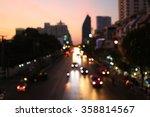 street lights after sunset at
