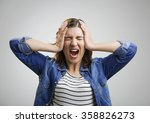 portrait of a stressed woman... | Shutterstock . vector #358826273