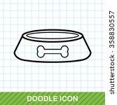 pet bowl doodle | Shutterstock .eps vector #358830557