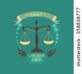 lawyer services logo  emblem ... | Shutterstock .eps vector #358838777