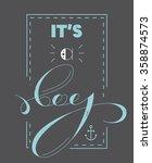 baby shower invitation template....   Shutterstock .eps vector #358874573