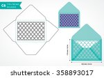 die cut c6 envelope template... | Shutterstock .eps vector #358893017