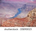 overlook of Colorado River running through Grand Canyon