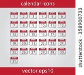 calendar icon  vector eps10... | Shutterstock .eps vector #358900733