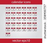 calendar icon  vector eps10... | Shutterstock .eps vector #358900757