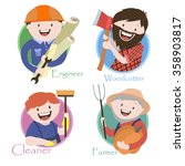 occupation   lumberjack   an... | Shutterstock .eps vector #358903817