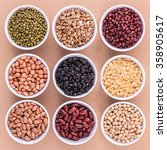 mixed beans and lentils in the... | Shutterstock . vector #358905617