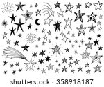 hand drawn doodle stars vector...