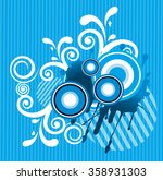abstract floral. | Shutterstock .eps vector #358931303