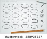 hand drawn circle icon on the...   Shutterstock .eps vector #358935887