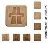 set of carved wooden highway...