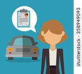 car sale design  | Shutterstock .eps vector #358949093