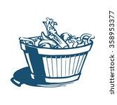 vegetable basket | Shutterstock .eps vector #358953377