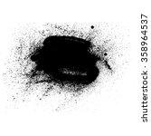 black stain  handmade vector... | Shutterstock .eps vector #358964537
