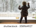 view form behind of toddler... | Shutterstock . vector #358964927