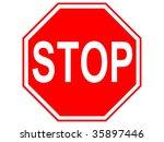 stop | Shutterstock . vector #35897446