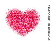 blurred valentine's heart. red... | Shutterstock .eps vector #359008463