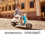 cheerful man with sunglasses... | Shutterstock . vector #359018687