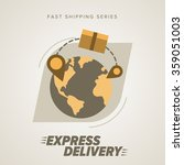 world wide delivery  cargo... | Shutterstock .eps vector #359051003