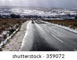 Road In Winter  North Yorkshir...