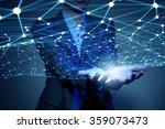 wireless connection futuristic... | Shutterstock . vector #359073473