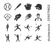 baseball icons | Shutterstock .eps vector #359079803