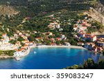 assos village and beautiful sea ... | Shutterstock . vector #359083247