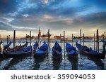 beautiful sunset in venice.... | Shutterstock . vector #359094053