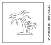 palm tropical tree line icon... | Shutterstock .eps vector #359098187