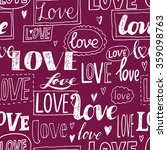 love. romantic seamless pattern.... | Shutterstock .eps vector #359098763