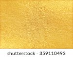 shiny yellow leaf gold foil... | Shutterstock . vector #359110493