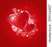 beautiful red glossy heart for... | Shutterstock .eps vector #359116307