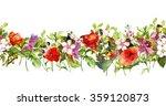 vintage floral horizontal... | Shutterstock . vector #359120873