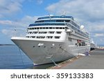 cruise tourist ship in black... | Shutterstock . vector #359133383