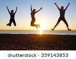 silhouette of jolly woman... | Shutterstock . vector #359143853