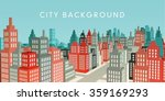 flat design city vector... | Shutterstock .eps vector #359169293