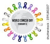 world cancer day. colorful... | Shutterstock .eps vector #359180207