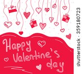 lettering happy valentines day... | Shutterstock .eps vector #359180723