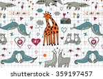lovebirds animals pattern | Shutterstock .eps vector #359197457